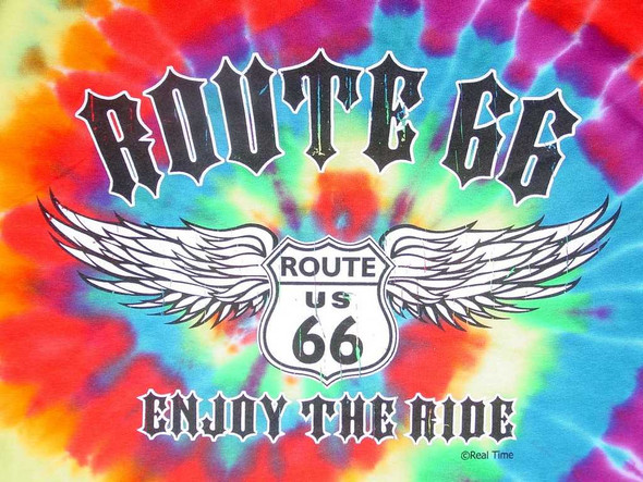 Route 66 Tie-Dye T-Shirt T-Shirts The Nut House