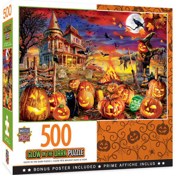 Halloween Glow in the Dark All Hallow's Eve 500 Piece Jigsaw Puzzle