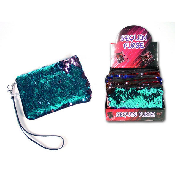 Sequin Zipper Purse