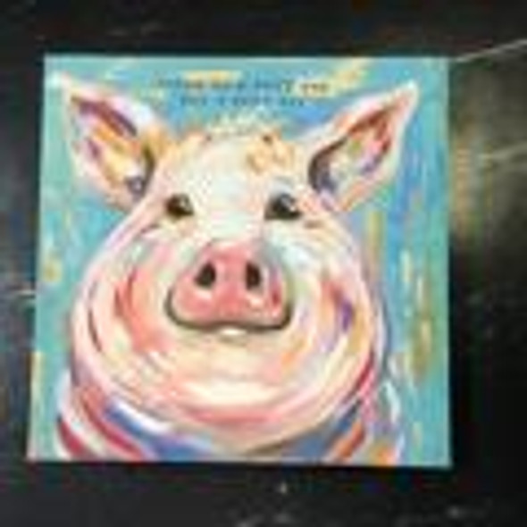 Today is Good Pig Canvas