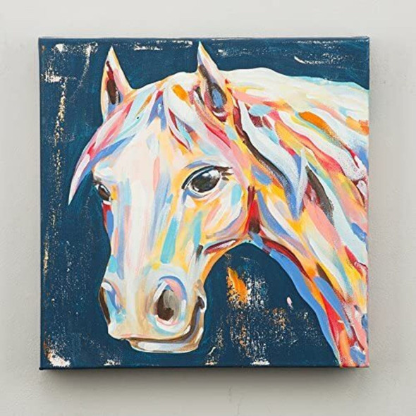 Glory Haus all trails lead to horse canvas multicolor painting on stretched canvas