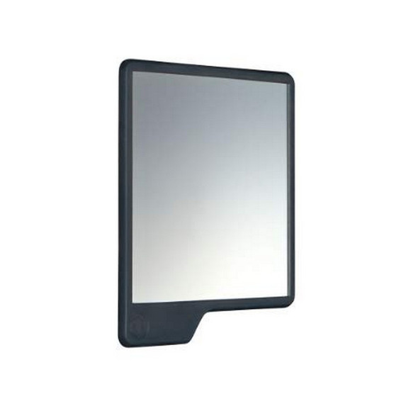 The Oliver Shower Mirror in Charcoal by Tooletries