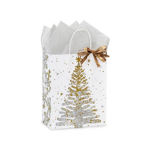 Mercury Glass Christmas Shopping Bags Cub Size