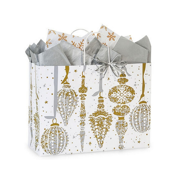 Mercury Glass Christmas Shopping Bags Vogue Size