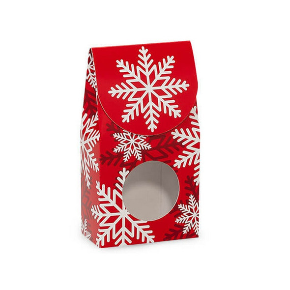 Red and White Snowflakes Window Boxes