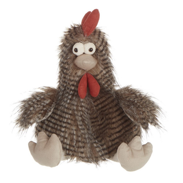 Cora Feathery Plush Chicken