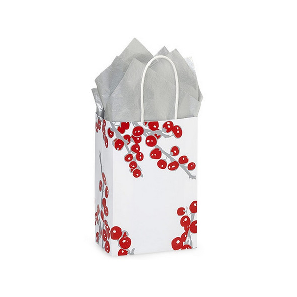 Berry Frost Paper Shopping Bags Rose Size