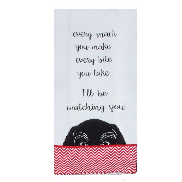 Wags Watching You Tea Towel