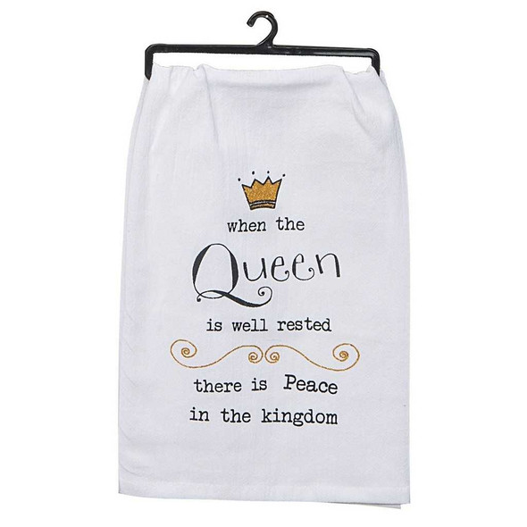 Queen Well Rested Embroidered Flour Sack Towel Kitchen Towels The Nut House