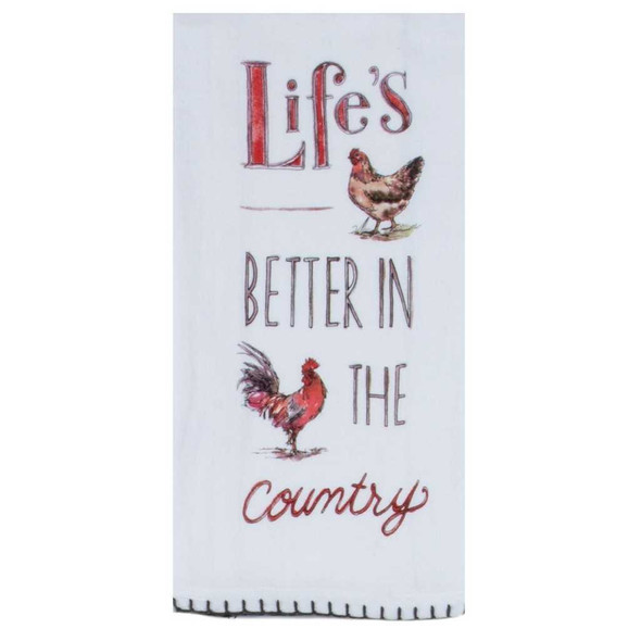Country Life Is Better Flour Sack Towel Kitchen Towels The Nut House