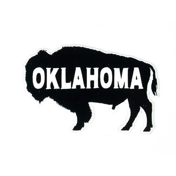 Oklahoma Buffalo Silhouette Magnet Magnets The Nut House