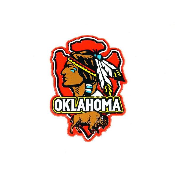 Oklahoma Arrowhead Magnet