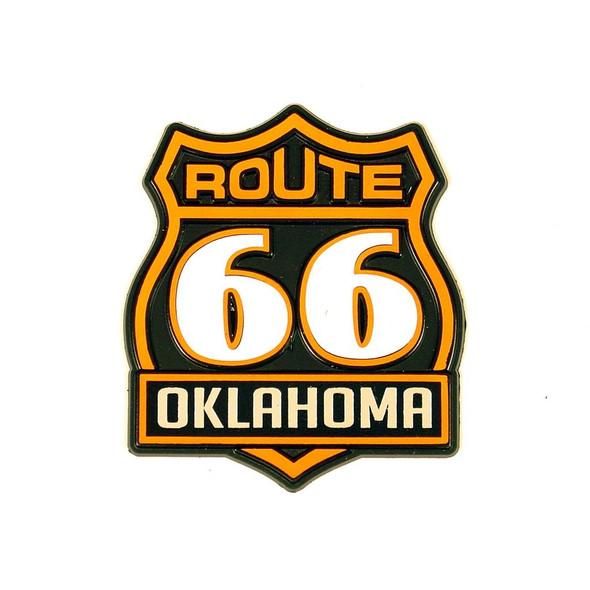 Oklahoma R66 Orange and Black Shield Magnet