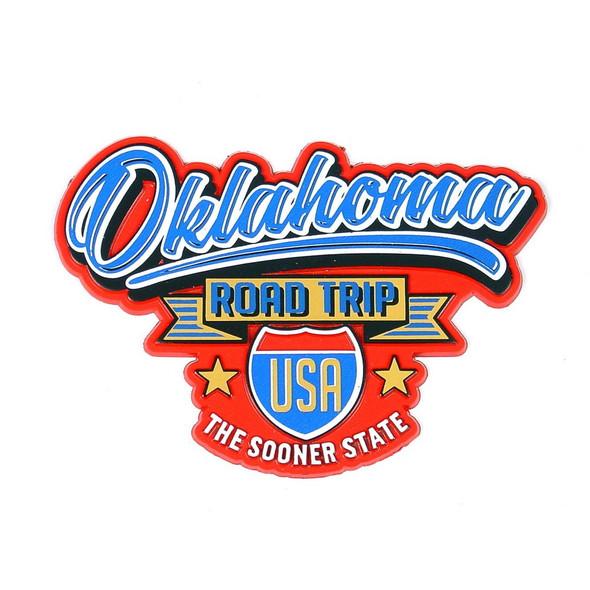 Oklahoma Road Trip Magnet