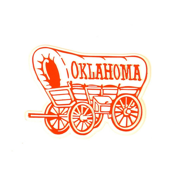 Oklahoma Vintage Wagon Magnet