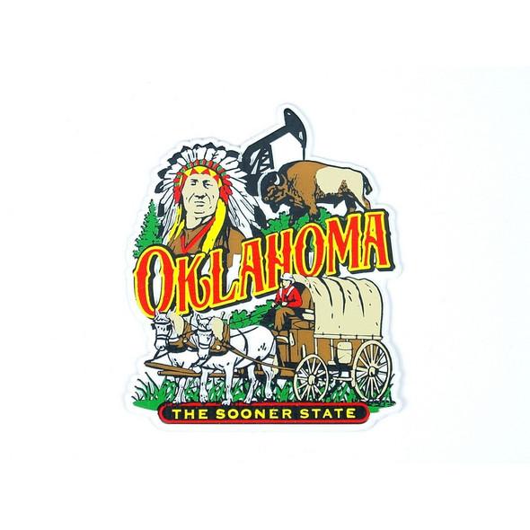 Oklahoma Collage Magnet