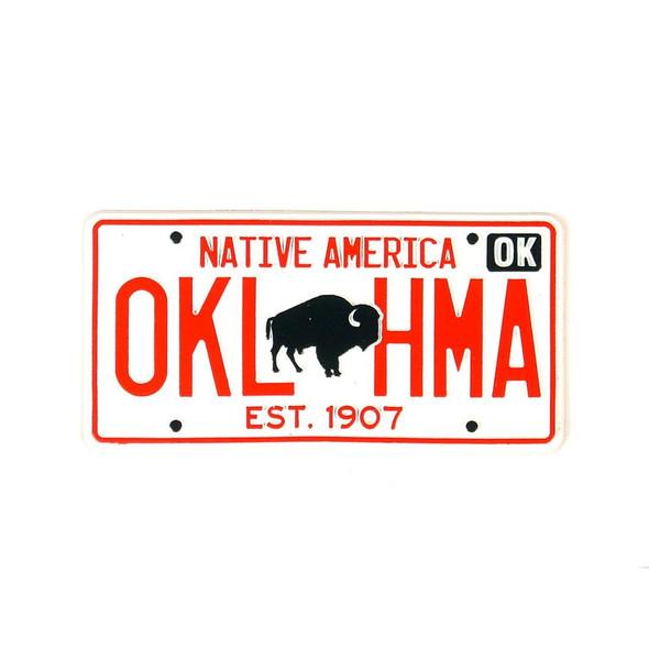 Oklahoma License Plate Magnet