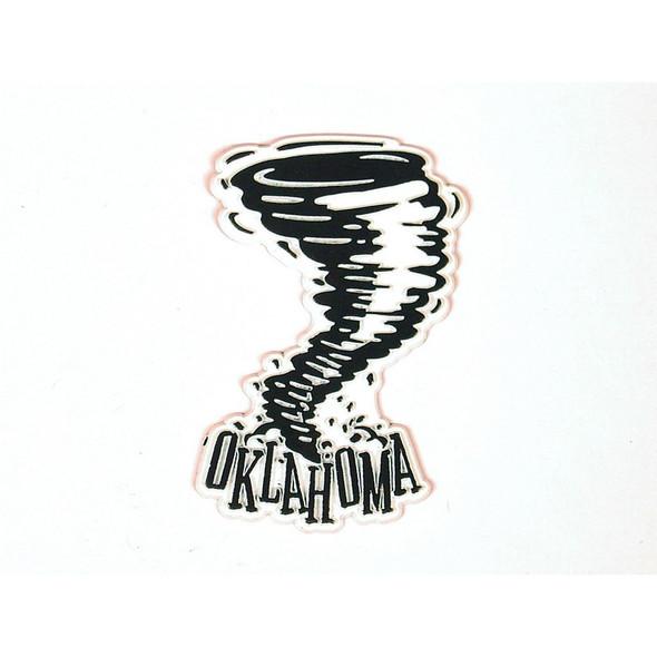 Oklahoma Vintage Tornado Magnet