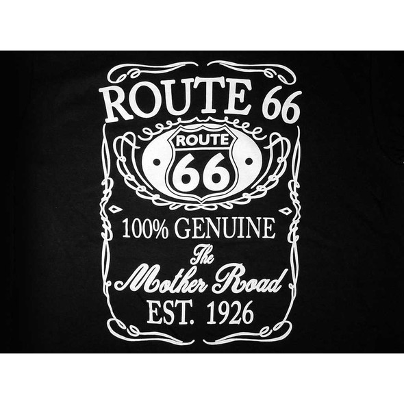 Route 66 Genuine Black T-Shirt T-Shirts The Nut House