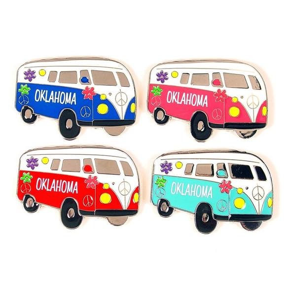 Oklahoma Hippy Van Magnet