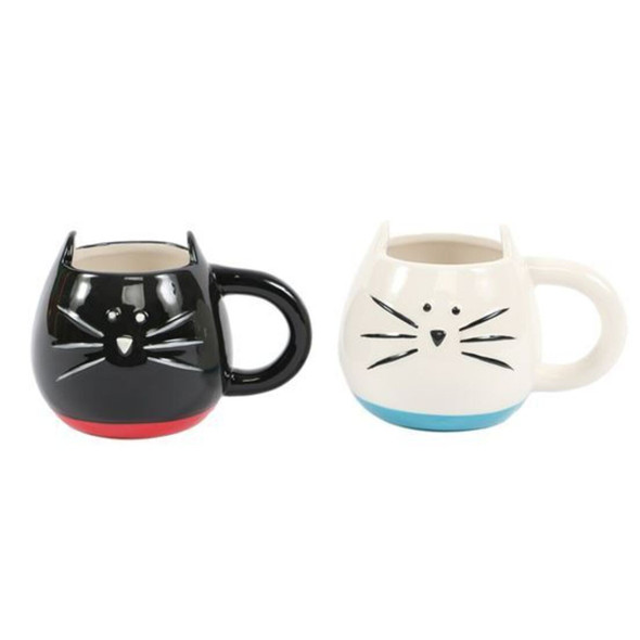 Cute gift idea for the crazy cat person in your life. Ceramic mug features whimsical embossed cat face and stick-up ears! Just like real cats, this is not microwave safe.