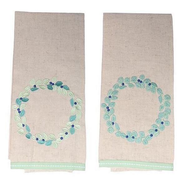 Eucalyptus design cotton tea towel