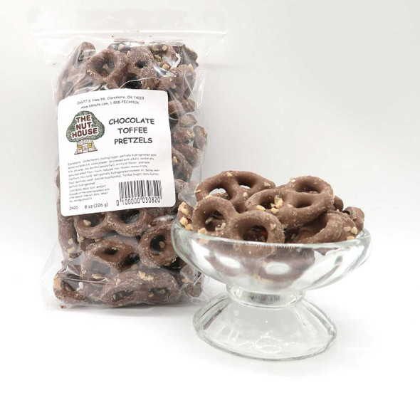Chocolate Toffee Pretzels 8 oz Pretzels The Nut House