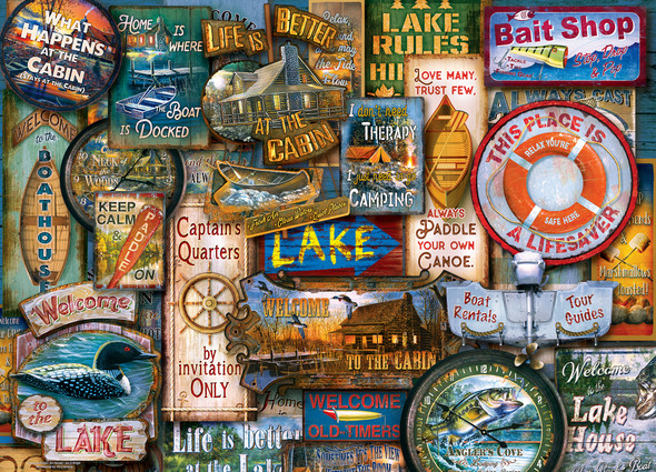 Off to the Lakehouse 1000 PC Puzzle