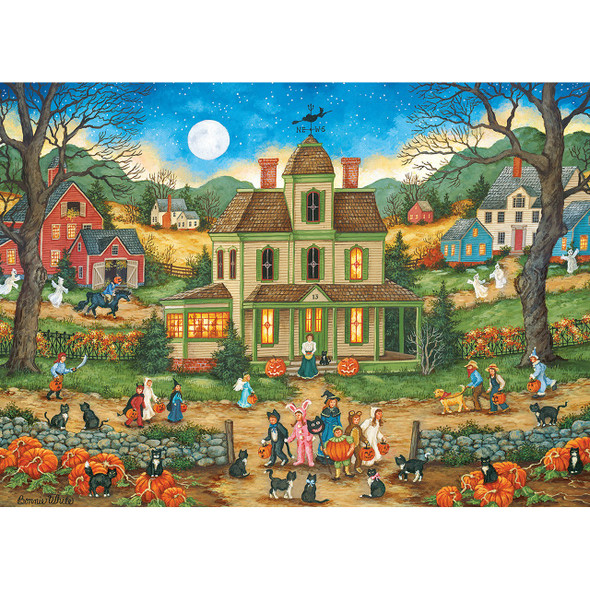 Lucky Thirteen 1000 PC Puzzle MasterPieces Bonnie White artist back of box
