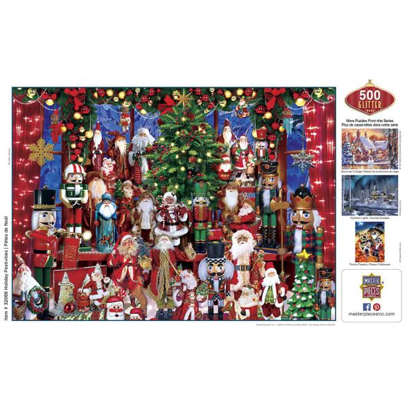 Holiday Festivities 500 PC Glitter Puzzle