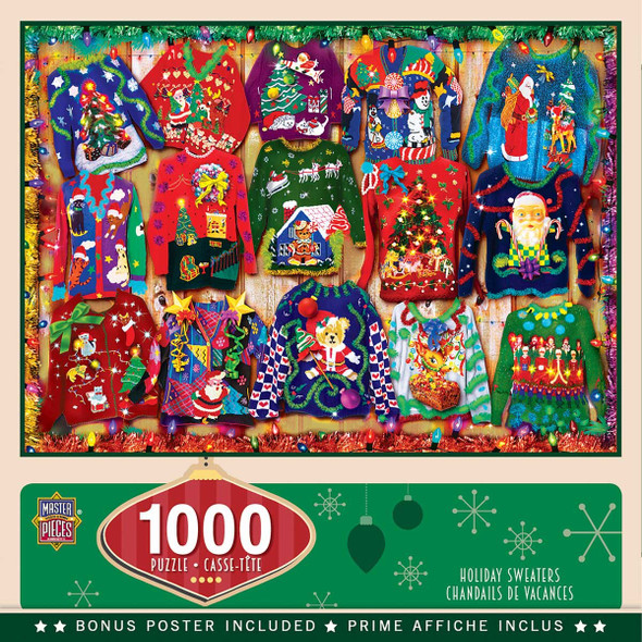 Holiday Sweaters 1000PC  Puzzle by Masterpieces