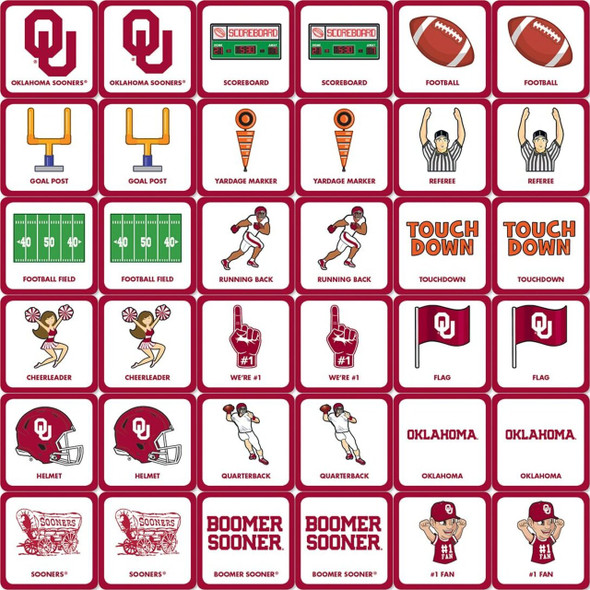 Oklahoma Matching Game Sooners (inside)