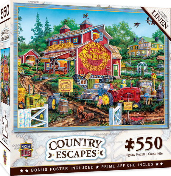 """MasterPieces 24"""" x 18"""" 550pc Puzzle was painted by William Kreutz"""