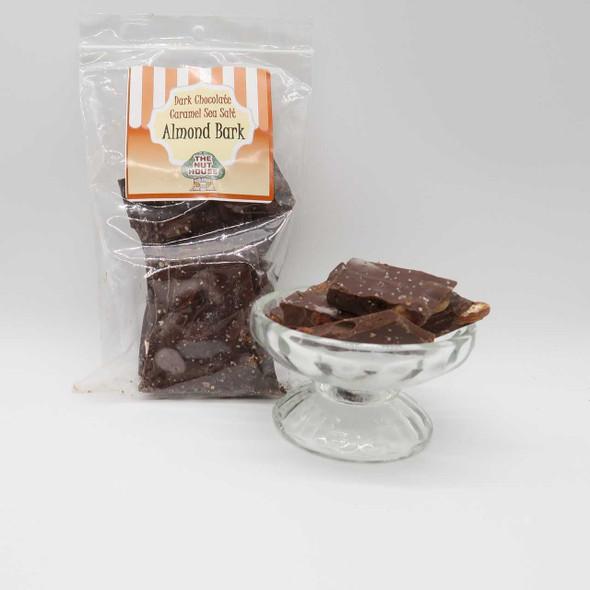 Dark Chocolate Caramel Sea Salt Almond Bark 8 oz Covered Nuts The Nut House