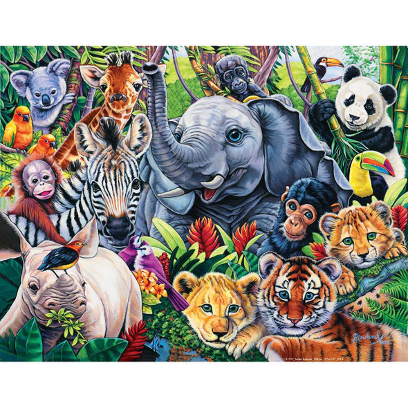 Animal Planet Safari Friends 100 Piece Puzzle by Jenny Newland Jigsaw Puzzles The Nut House