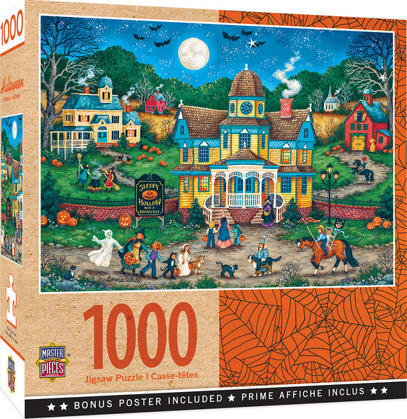 The Tag Along 1000 Pc Halloween puzzle by MasterPieces