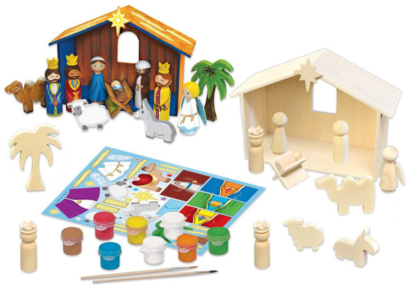 Holiday Nativity Deluxe Wood Paint Kit