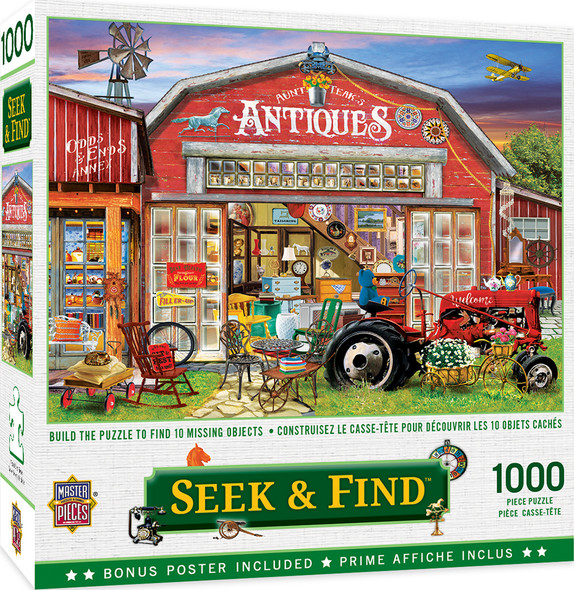 Antiques For Sale Hidden Image 1000 Piece Puzzle