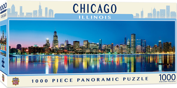 Cityscapes - Chicago 1000 Piece Panoramic Jigsaw Puzzle