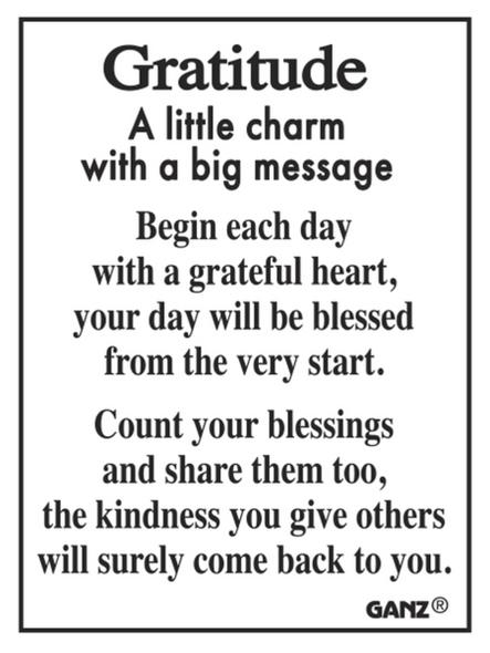 Gratitude Charm Sentiment Card ER51880