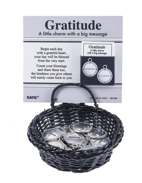 Gratitude charms in a basket Ganz ER51880