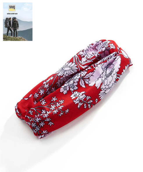 Red And White Floral Bandana Bandanas & Sweatbands The Nut House