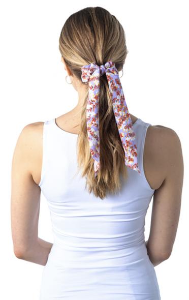 Wisteria flower scrunchie scarf