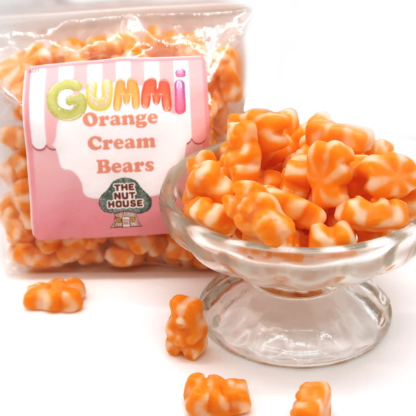 Gummi Orange Cream Bears 10 oz
