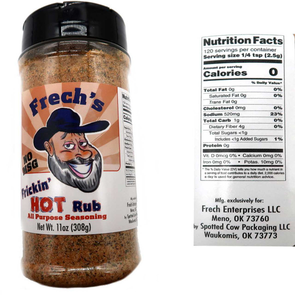 Frech's Frickin' Hot Rub 11 oz. Spices and Seasonings The Nut House