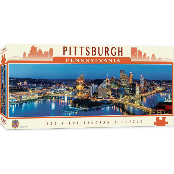 Cityscapes - Pittsburgh 1000 Piece Panoramic Jigsaw Puzzle Jigsaw Puzzles The Nut House