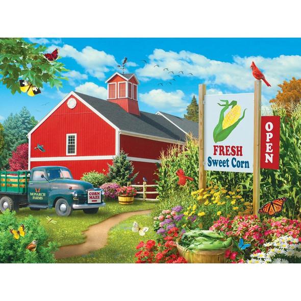 Farmer's Market - Country Heaven - 750 Piece Jigsaw Puzzle by Alan Giana