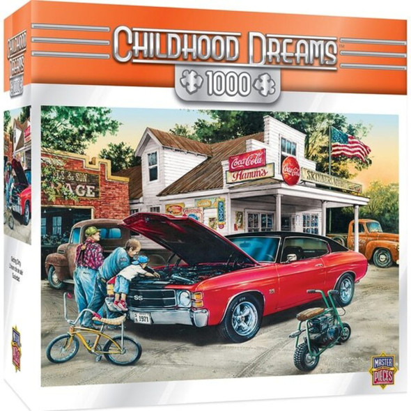 Childhood Dreams - Getting Dirty 1000 Piece Jigsaw Puzzle by Dan Hatala