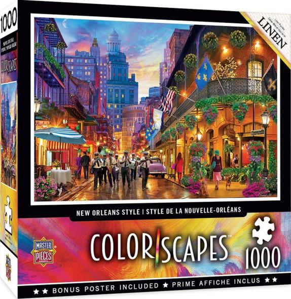 Colorscapes - New Orleans Style 1000 Piece Linen Jigsaw Puzzle