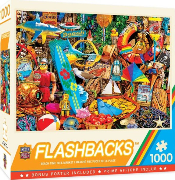 Flashbacks - Beach Time Flea Market 1000 Piece Jigsaw Puzzle